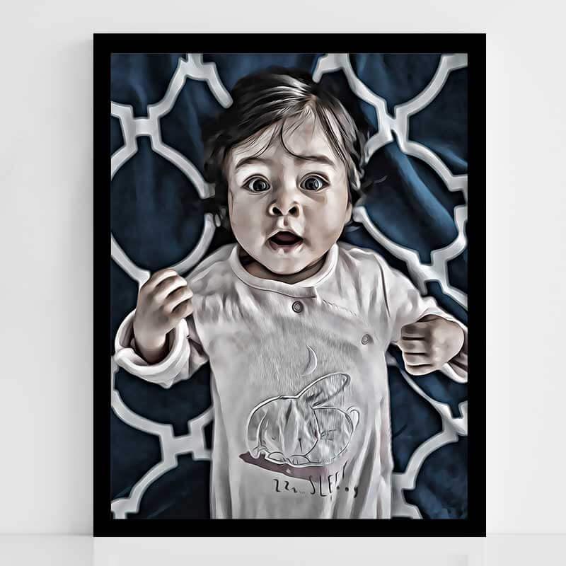 Дигитален графичен портет по твоя снимка - Още един интересен вариант за по - специален портрет, перфектният подарък за баби