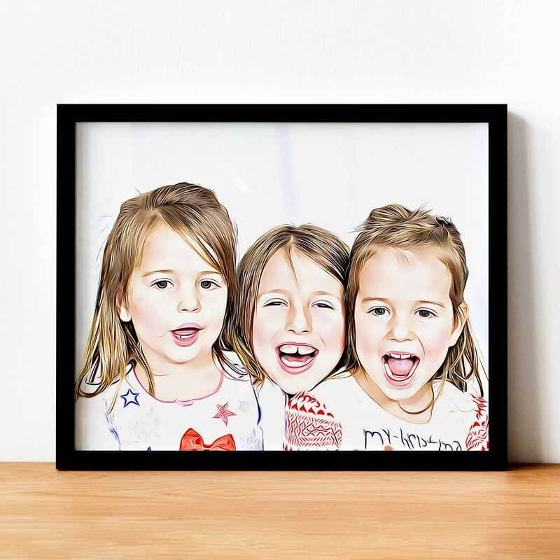 Комикс портрет по снимка - Ние ще превърнем вашите любими снимки в зашеметяващо произведение на изкуството, перфектният подарък за бабинден